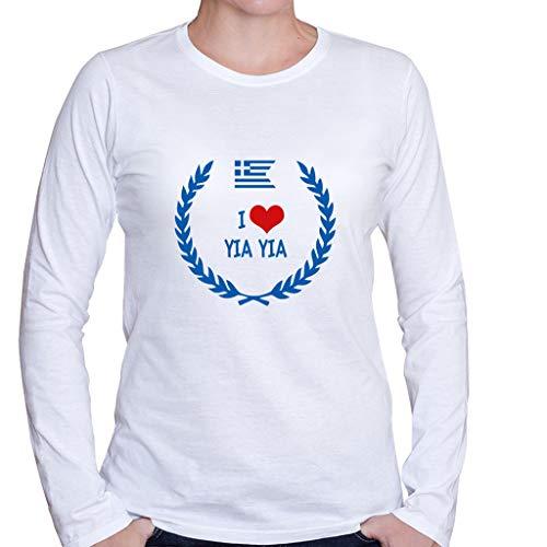 Custom Brother - I Love YIA YIA Greek Greece Women