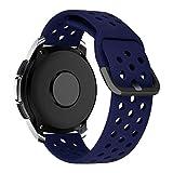MroTech 20 mm Cinturino Compatibile per Samsung Galaxy Watch 42mm/Active2/Active 2 40mm 44mm/Gear Sport/S2 Classic/Amazfit Bip/Huawei Watch GT 2 42MM/Vivoactive 3/TicWatch C2 Banda Ricambio 20 mm-Blu