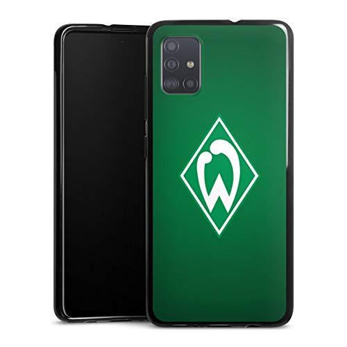 DeinDesign Silikon Hülle kompatibel mit Samsung Galaxy A51 Case schwarz Handyhülle SV Werder Bremen Logo Fanartikel