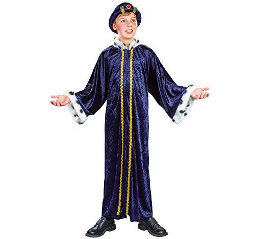 Sternsinger Kostüm Königs Mantel blau Größe 140/152