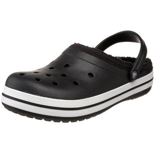 Crocs Crocband Mammoth 11126-060-009, Damen Clogs, black/black, 43 EU / 9 UK
