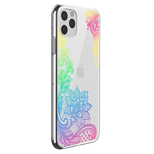 """Oihxse - Carcasa para iPhone 12 de 5,4"""" 2020, transparente, silicona TPU flexible, protección ultrafina, diseño de mandala"""