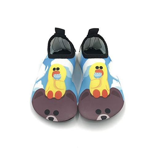 Vast Zapatos de agua para playa de verano, zapatos de agua con suela de 5 mm, para niños, niñas, dibujos animados descalzos para nadar de secado rápido (tamaño: 26-27 (14-15 cm), color: color 02)