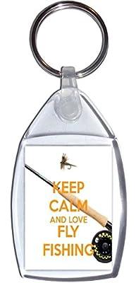 Keep Calm and Love Fly Fishing - Keyring
