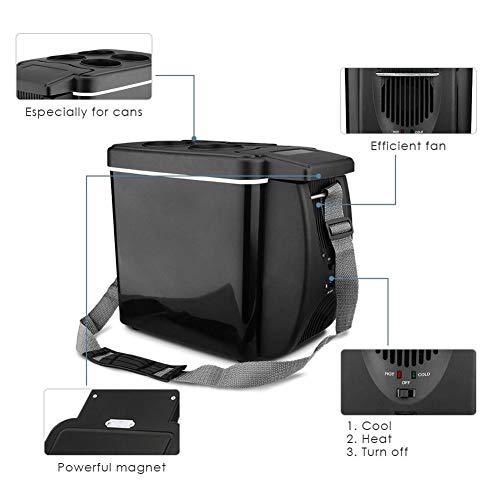 Dedeka 6L Mini Drinks Nevera para Coche 12V refrigerador y Calentador Mini Bar Personal Completamente silencioso para cosm/éticos y Alimentos