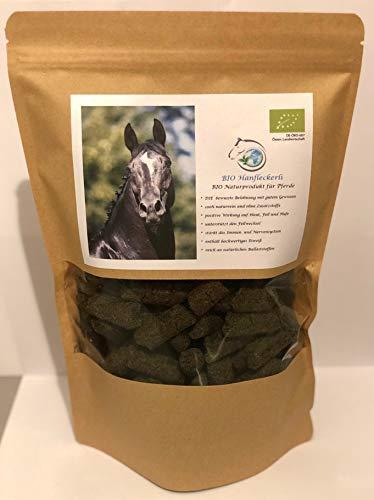 Gesundheitpur für Pferde Bio Hanfleckerli, 1 kg, Bio Hanfpresskuchen, Pellets 100% rein, ohne Zusätze, die bewusste Belohnung voller Vitalstoffe, DE-ÖKO-007