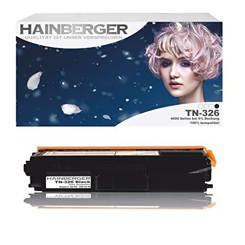 Hainberger Toner Black für Brother TN 326 schwarz 4.000 Seiten kompatibel zu TN 321/326 Geeignet für Brother HL-L8250CDN