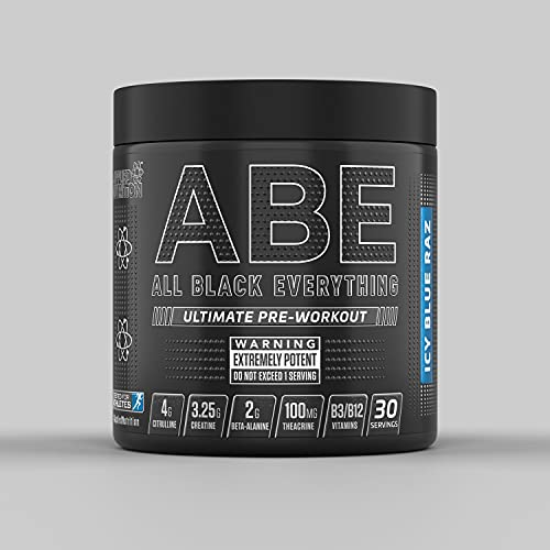 Applied Nutrition ABE Todo Negro Suplemento Pre-Entrenamiento, Frambuesa Azul 320 g