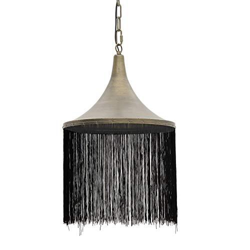Inart - Lámpara de techo con flecos (35,5 x 35,5 x 54 cm),