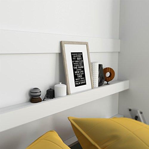 SMARTBett Basic 140×200 Vertikal Weiss Schrankbett   ausklappbares Wandbett, ideal geeignet als Wandklappbett fürs Gästezimmer, Büro, Wohnzimmer, Schlafzimmer - 6