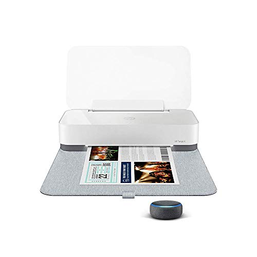 HP Tango X Smart Home Printer with Echo Dot (3rd Gen) Charcoal