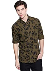 Dennis Lingo Men's Printed Slim Fit Casual Shirt