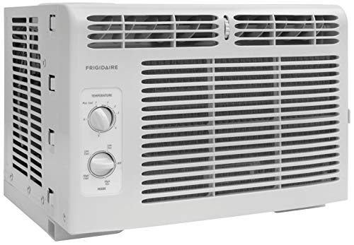 Frigidaire FFRA0511R1 5, 000 BTU 115V Window-Mounted Mini-Compact Air Conditioner with Mechanical Controls (Renewed)
