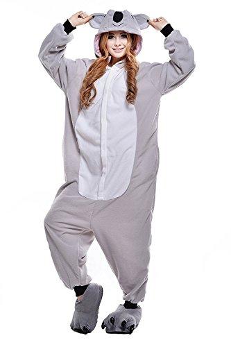 ABYED® Kostüm Jumpsuit Onesie Tier Fasching Karneval Halloween, Koala - 2