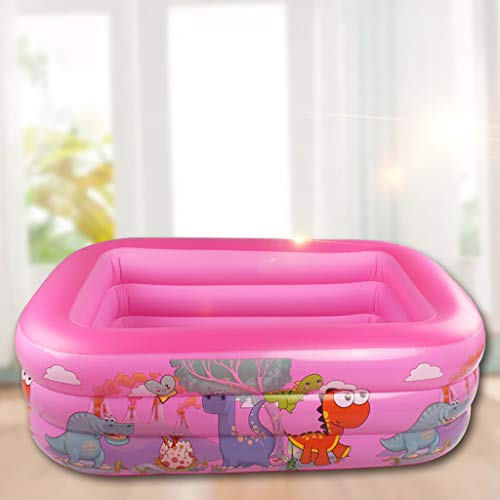 Koly-Hundebett Kinder Aufblasbar Schwimmen Schwimmbad,mit Elektrisch Pumpe Sehr groß,Einfach Einstellen, 49 x 35 x 20 Zoll Full-Size, zum Alter 6+,draussen Garten,Baby Familie Salon Schwimmbad.