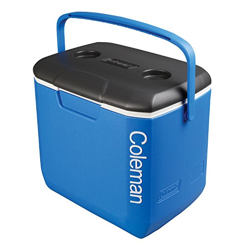 Coleman passive Kühlbox 30QT Performance, kühlt bis zu 2 Tage, Thermobox mit 28 L Fassungsvermögen, mobile passiv Kühlbox mit stabilem Tragegriff