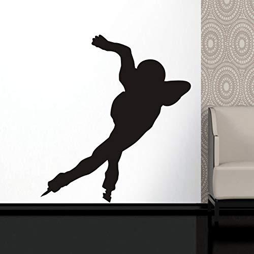 Calcomanías de pared de patinaje de velocidad calcomanías de póster de esquí calcomanías de pared murales decorativos patinaje de coches calcomanías de patinaje de velocidad A7 58x65cm