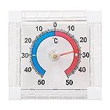 Ganmek Termometro Igrometro per Interni, Monitor di Temperatura E umidità 2 in 1 per Interni, Design Appendibile, Adatto per Scrivania, Cucina, Ufficio Ed Esterno, Nessuna Batteria Necessaria