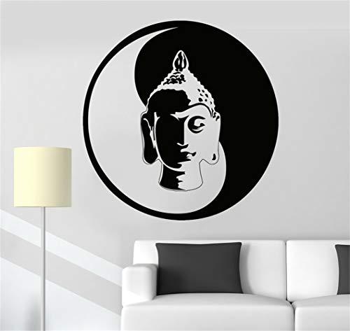 stickers muraux chouette Bouddha méditation Yin Yang Zen Bouddhisme Tao