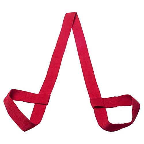 LZDseller01 Yogamatten-Gurt, verstellbar, Baumwolle, Yogamatte, Trageriemen, elastisch, Fitness-Sportschlinge (Matte nicht im Lieferumfang enthalten), nicht null, rot, Free Size