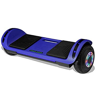 Longtime Kids 2020 Edition Hoverboard Self Balancing Scooter with LED Lights Flashing Wheels - UL Certified (Blue)