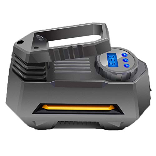 NCBH Auto-luchtpomp voor buiten, noodverlichting, 120 W, digitaal, hoog vermogen, vooraf ingestelde druk, automatisch opladen