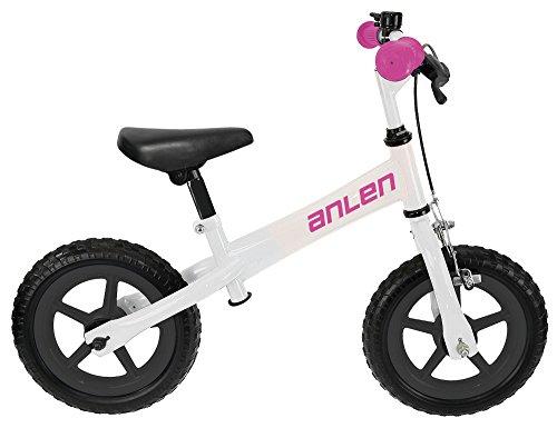 M-Wave Anlen Bicicleta Infantil, Unisex Adulto, Blanco, 12 Pulgadas