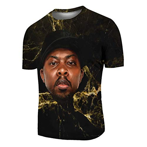 A Tribe Called Quest Phife Dawg Men's 100% Polyester Moisture Wicking Performance T-Shirt 3X-Large Black