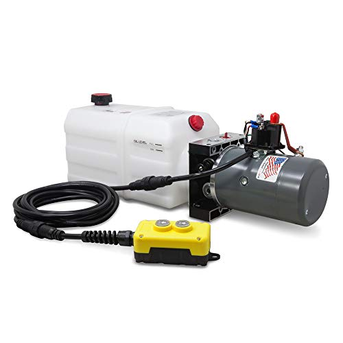 KTI Single Acting 12V Hydraulic Pump - 6 Quart