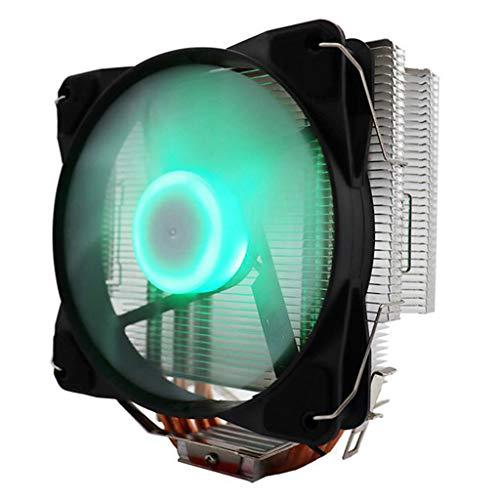 Gazechimp Enfriador de CPU, radiador de refrigeración RGB, Enfriador de CPU, disipador de Calor, Ventilador para dypga775/1155/1156/1366