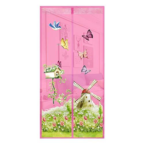 Sommer Haushaltsvorhänge Anti-Mücke elektromagnetischer Tüll Duschvorhang schließt automatisch die Tür Gaze Sommer Verschlüsselung Netzgarn Anti-Moskito Tür Vorhang A2 B100xH210