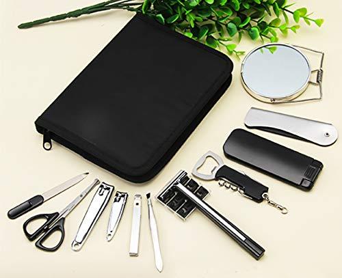 Argent Pédicure Manucure Set Nail Cuticule Tondeuses Cleaner Toilettage Kit Cas Outil avec Cas 12 Pcs