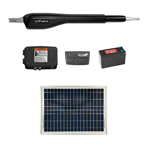 Mighty Mule MM571W Solar Package - Heavy Duty Single Smart Gate Opener (20 Watt Solar Panel)