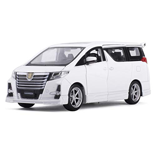 HCEB Diecast Model Car 1:32 For ALPHARD Car Simulation Model Alloy Die Cast Cars Sound Light Pull Back Kids to-ys Cars Boys Gift Collection Car Model (Color : White)