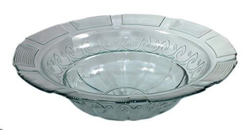 budawi® - Brunnenschale/Glasschale (Blue Ocean) mit Ornamenten Ø 39 cm für Nebler und Zimmerbrunnen