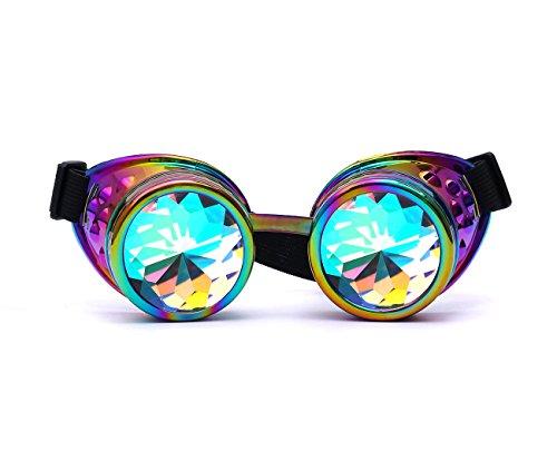 ZAIQUN Steampunk-Brille im Vintage-Stil, mehrfarbige Gläser, Kupfer/Messing, Schweißbrille