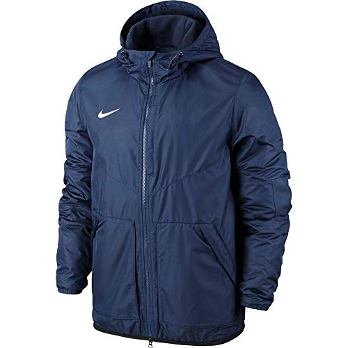 Nike Team Fall Jacket Youth, Giacca Sportiva Unisex Per Bambini, Obsidian/Dark Obsidian/White, S
