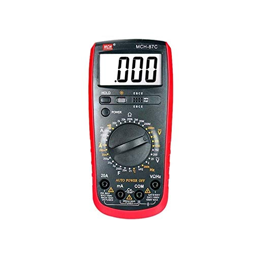 KANJJ-YU Digital Probador precisa MCH-87C multímetro digital electricista de mantenimiento multímetro manual Tabla portable universal del cinturón anti-quema duradera multímetros