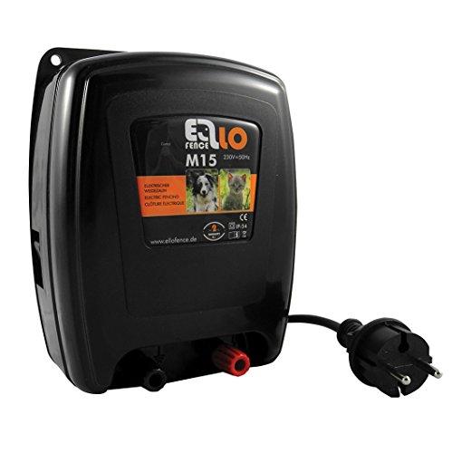 Ellofence M15 Clôture électrique extrêmement silencieuse - Protection pour les animaux domestiques et les petits animaux - 230 V
