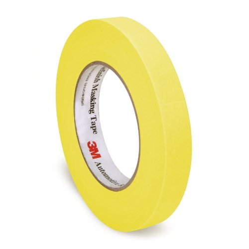 3M 06652 18 mm x 55 m Automotive Refinish Masking Tape, Pack of 48