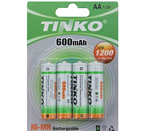 4 x AA 600mAh 1.2v NI-MH Rechargeable Battery For Solar Lights