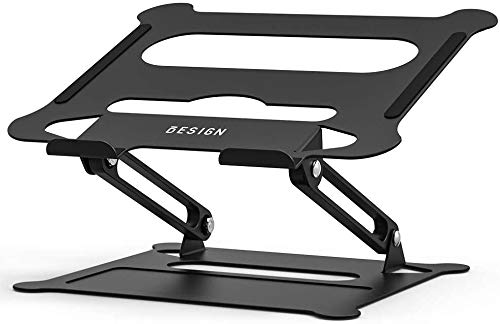 "Besign LS05 Aluminum Laptop Stand, Ergonomic Adjustable Notebook Stand, Riser Holder Computer Stand Compatible with MacBook Air Pro, Dell, HP, Lenovo More 10-15.6"" Laptops"