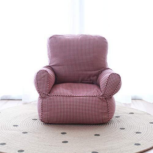 Kindersofa, Stoffsessel, Sofa für Kinder, Cartoon-Einzelsofa, geeignet für 1-5 Jahre alte Jungen und Mädchen Kinderzimmer, Wohnzimmer rot
