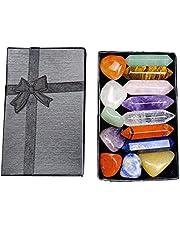 7 Chakras Steen Set -tonde stenen met Geschenkdoos, Yoga Amulet Crystal Meditation Stone Colorful Starter Collection Kit
