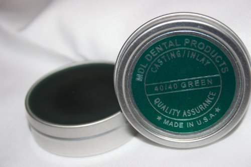 Dental Carving Inlay Wax 2oz Tin - New Green Wax