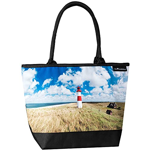 VON LILIENFELD Lighthouse on Sylt Shoulder Bag Shopping Bag Large Shopper...