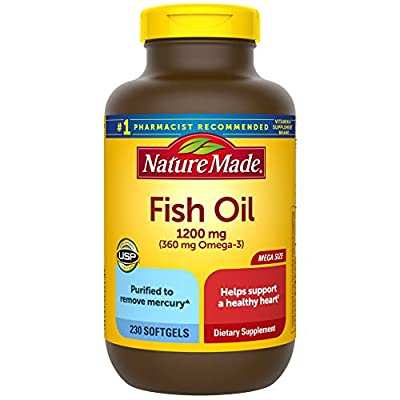 Nature Made Fish Oil 1200 mg Softgels, 230 Count Mega Size for Heart Health? (Packaging May Vary)
