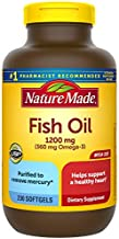 Nature Made Fish Oil 1200mg, 230 Softgels Mega Size, Fish Oil Omega 3 Supplement For Heart Health