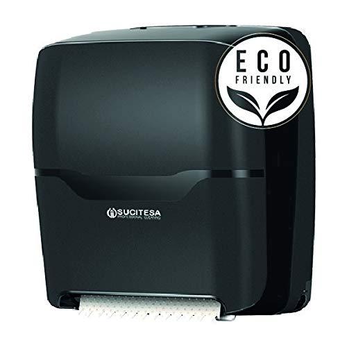 Dispensador de celulosa corte automático. bobina de papel secamanos Control por WIFI, Tecnología HygieneKey (loT) para iOs y Android, Reduce consumos innecesarios, cierre con llave, montaje en pared
