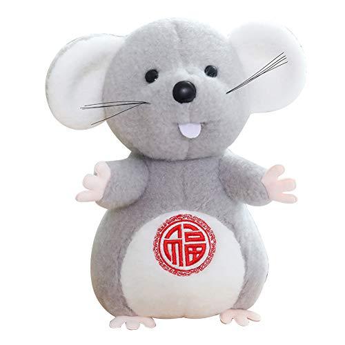 Luwsldirr 2020 Mouse Year Lantern Cake Mascot Rat Plush Stuffed Doll Kids Toy Sofa Decor - M Cake